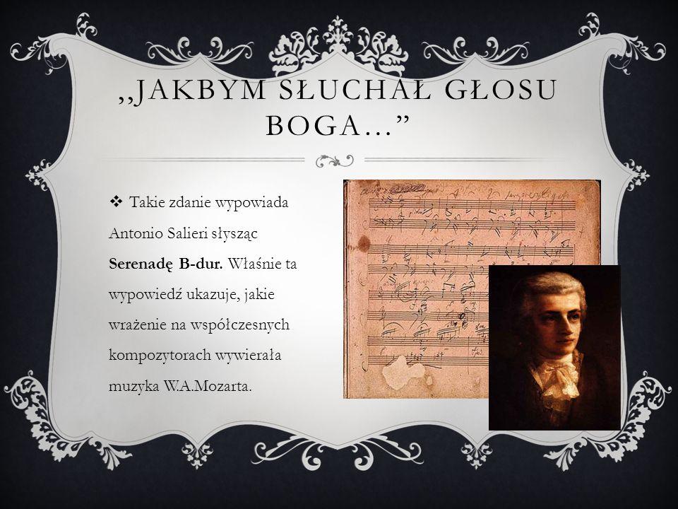  W spuściźnie Mozarta kompozycje sakralne zajmują znacznie mniej miejsca niż świeckie, a większość z nich pochodzi z okresu działalności w Salzburgu w służbie swego (nielubianego) ówczesnego chlebodawcy, arcybiskupa Hieronima von Colloredo.