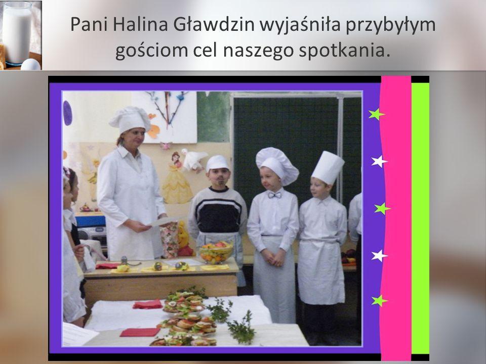 Pani Halina Gławdzin wyjaśniła przybyłym gościom cel naszego spotkania.
