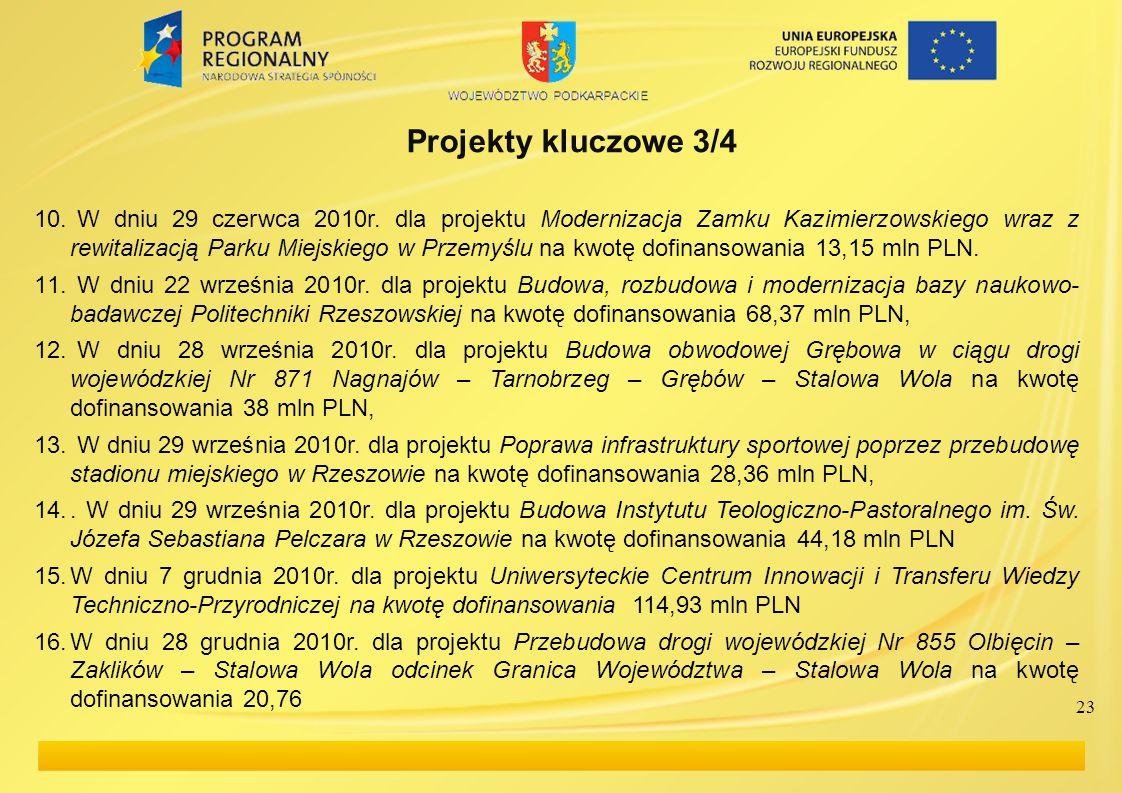 Projekty kluczowe 3/4 10. W dniu 29 czerwca 2010r.