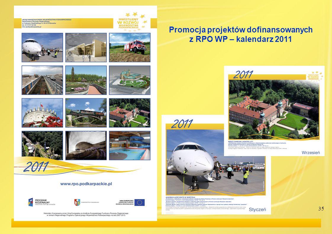 35 Promocja projektów dofinansowanych z RPO WP – kalendarz 2011