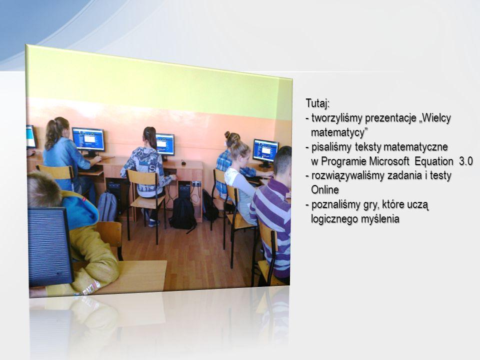 """Zaczęliśmy pracę nad małym projektem """"Nasza szkoła w liczbach To się nazywa skuteczna komunikacja – opracowujemy komputerowo ankietę"""