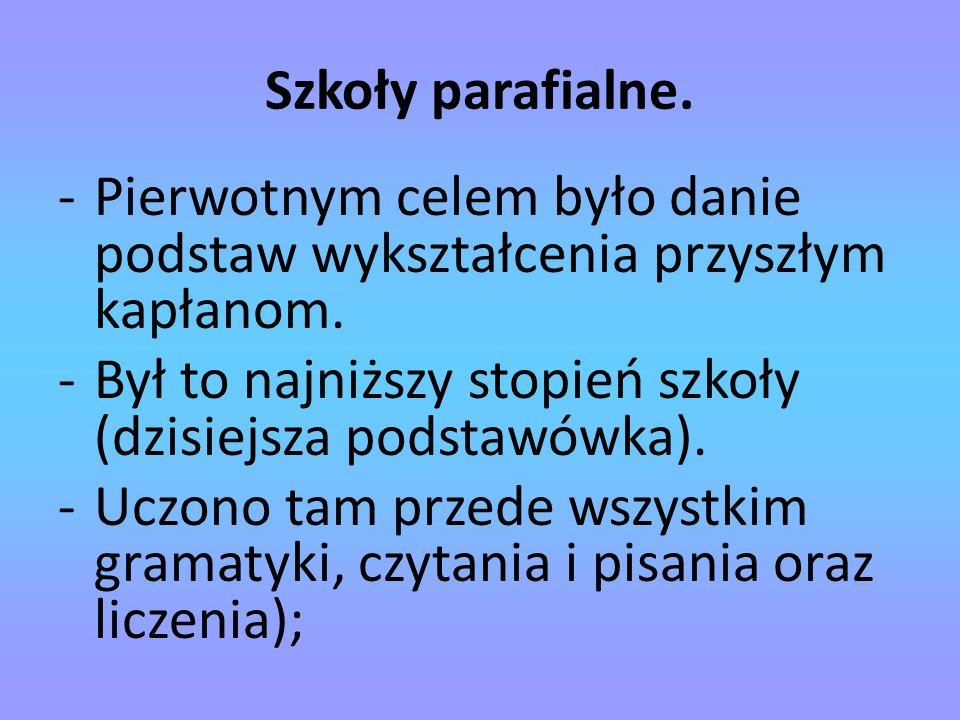 Szkoły klasztorne.-Organizowane przez Benedyktynów.