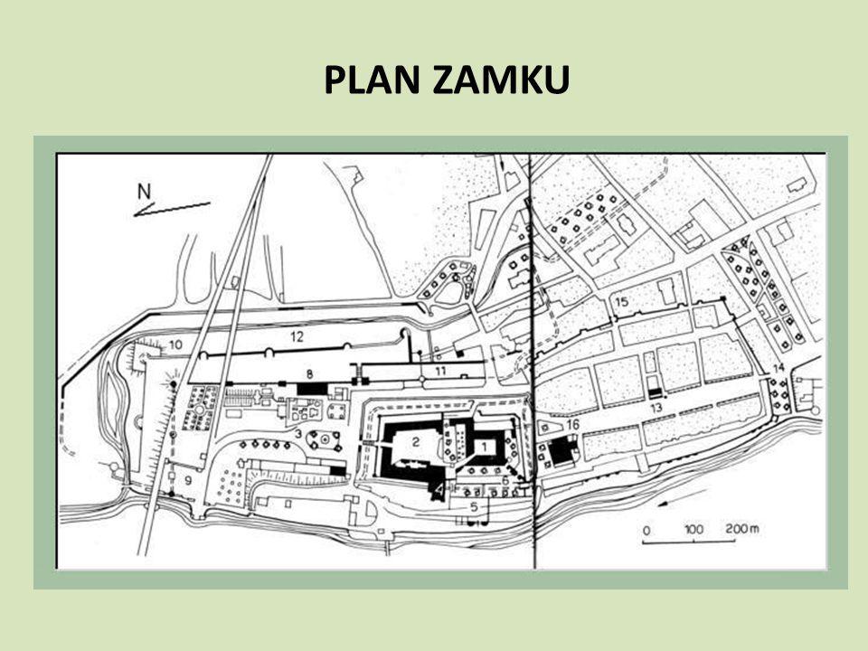 Zespół zamkowy w Malborku obejmuje: Zamek wysoki Zamek średni Zamek niski (przedzamcze)