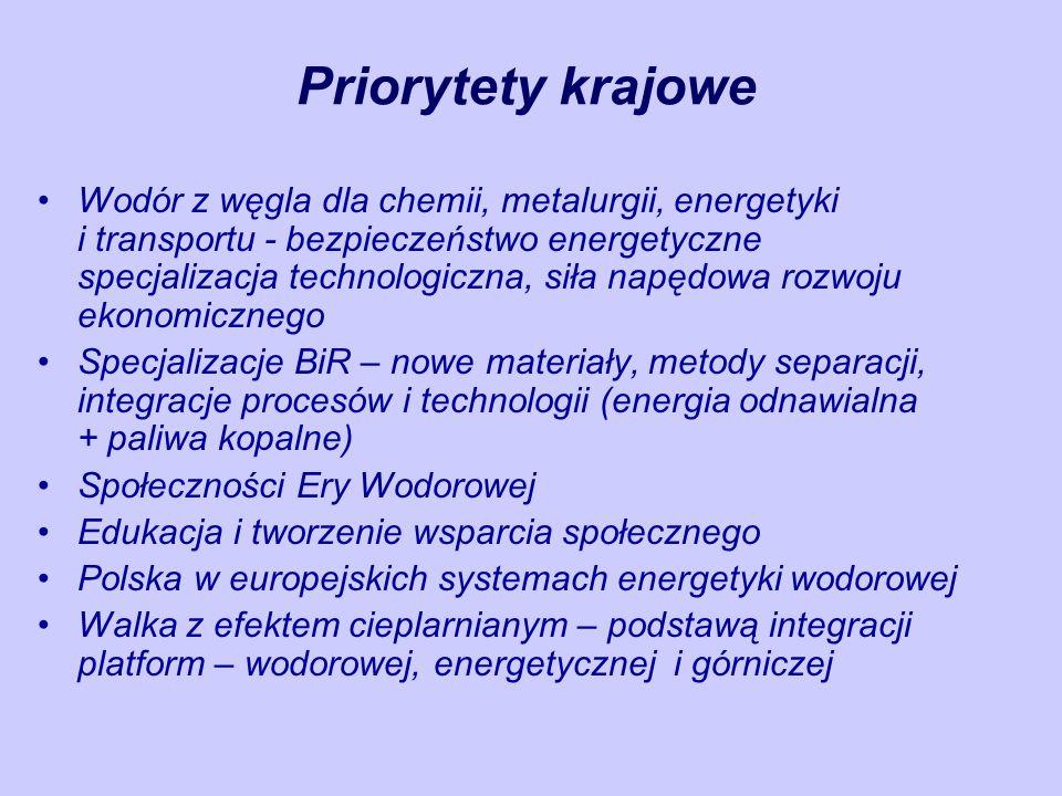 Aktywność Międzynarodowa Projekty Europejskie ISCC, CH2, C3, HyCom-prep Społeczności Ery Wodorowej Polska w europejskich systemach energetyki i gospodarki wodorowej Współpraca z JRC Projekty regionalne i transgraniczne Współpraca z IPHE