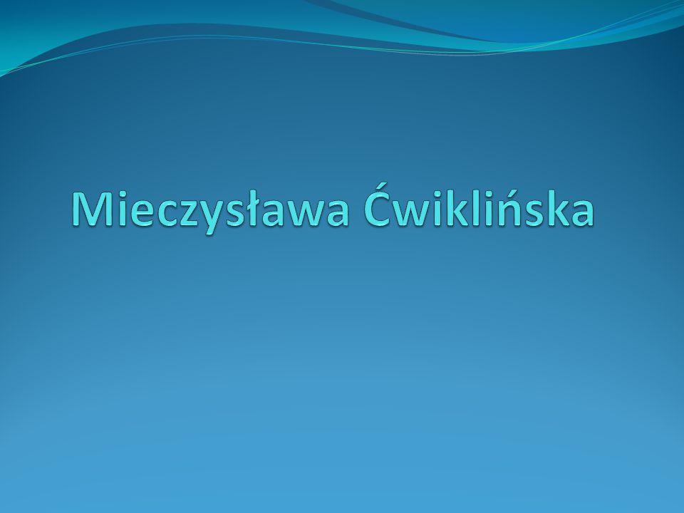 Mieczysława Ćwiklińska, właściwie Mieczysława Trapszo (ur.