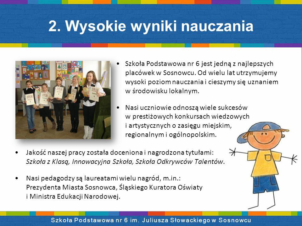 Szkoła Podstawowa nr 6 jest jedną z najlepszych placówek w Sosnowcu.