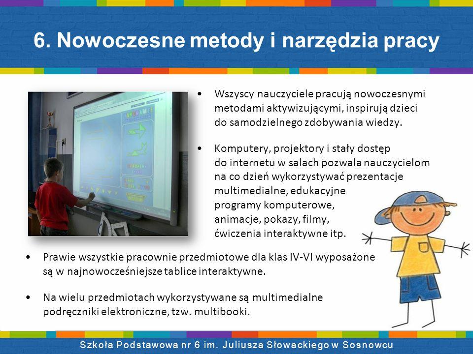 Wszyscy nauczyciele pracują nowoczesnymi metodami aktywizującymi, inspirują dzieci do samodzielnego zdobywania wiedzy.