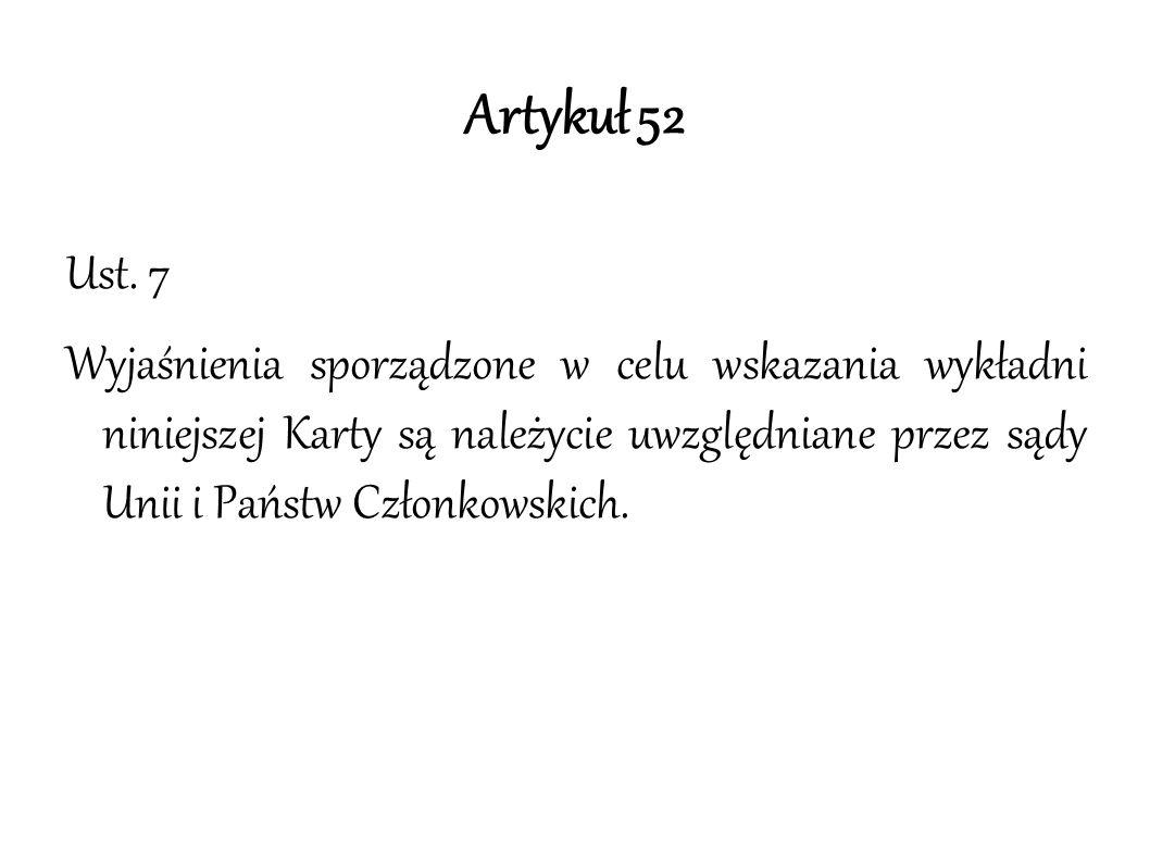 Artykuł 52 Ust.