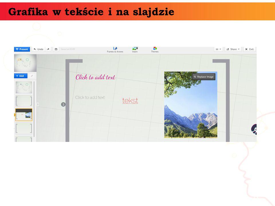 Grafika w tekście i na slajdzie informatyka + 8