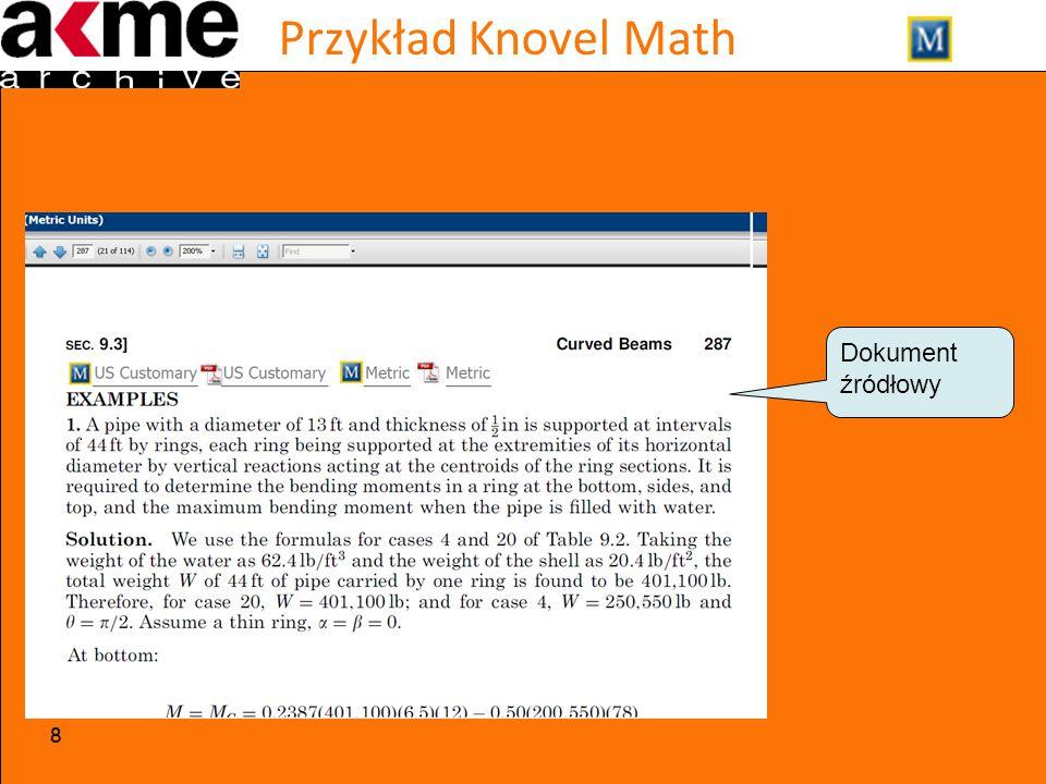 Przykład Knovel Math 88 Dokument źródłowy