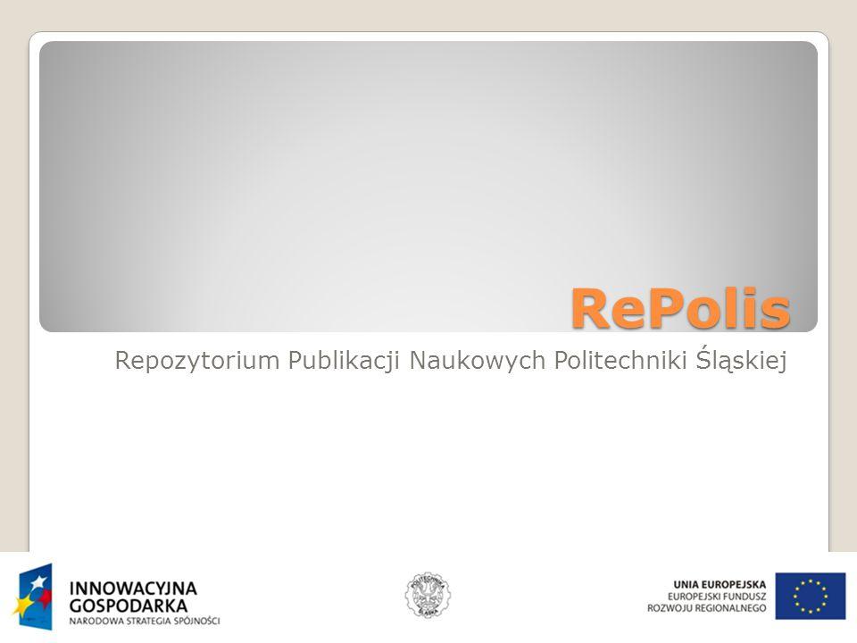 RePolis Repozytorium Publikacji Naukowych Politechniki Śląskiej
