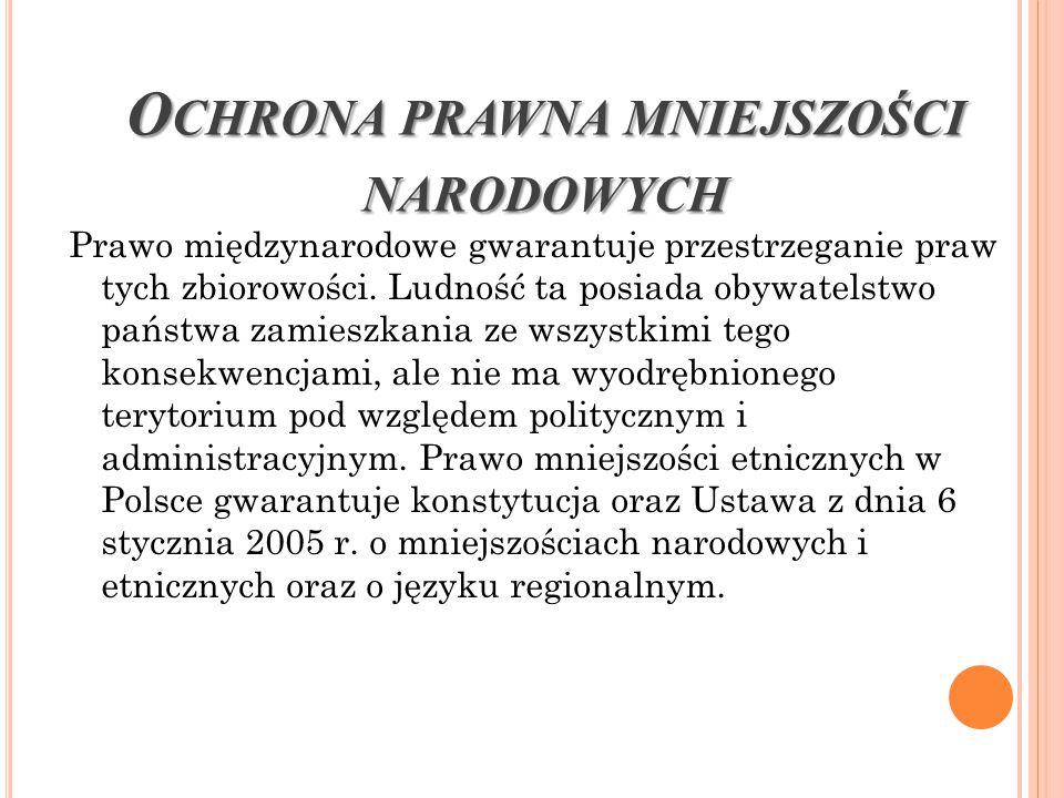 Mieszkający w Polsce Romowie stanowią uznaną polskim prawem mniejszość etniczną.