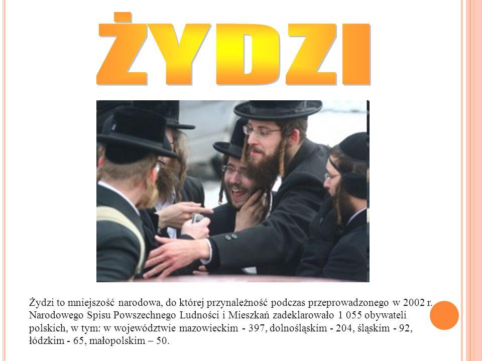 Żydzi to mniejszość narodowa, do której przynależność podczas przeprowadzonego w 2002 r. Narodowego Spisu Powszechnego Ludności i Mieszkań zadeklarowa