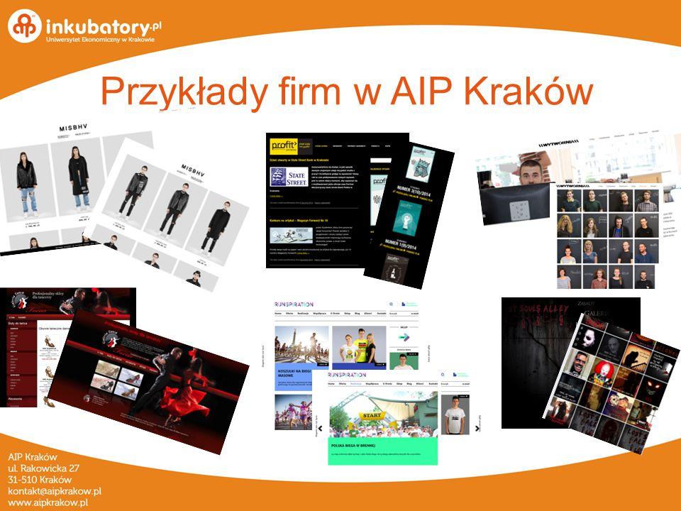 Przykłady firm w AIP Kraków