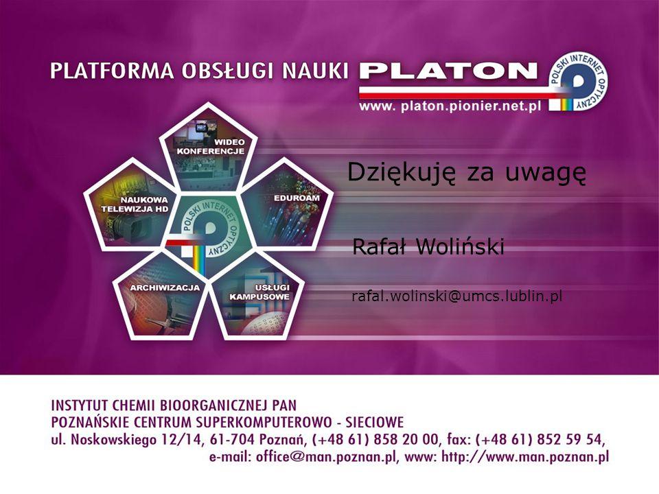 Dziękuję za uwagę Rafał Woliński rafal.wolinski@umcs.lublin.pl