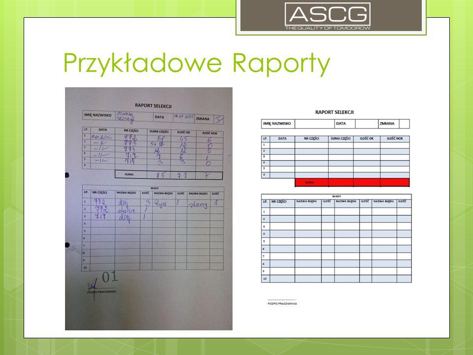 Przykładowe Raporty