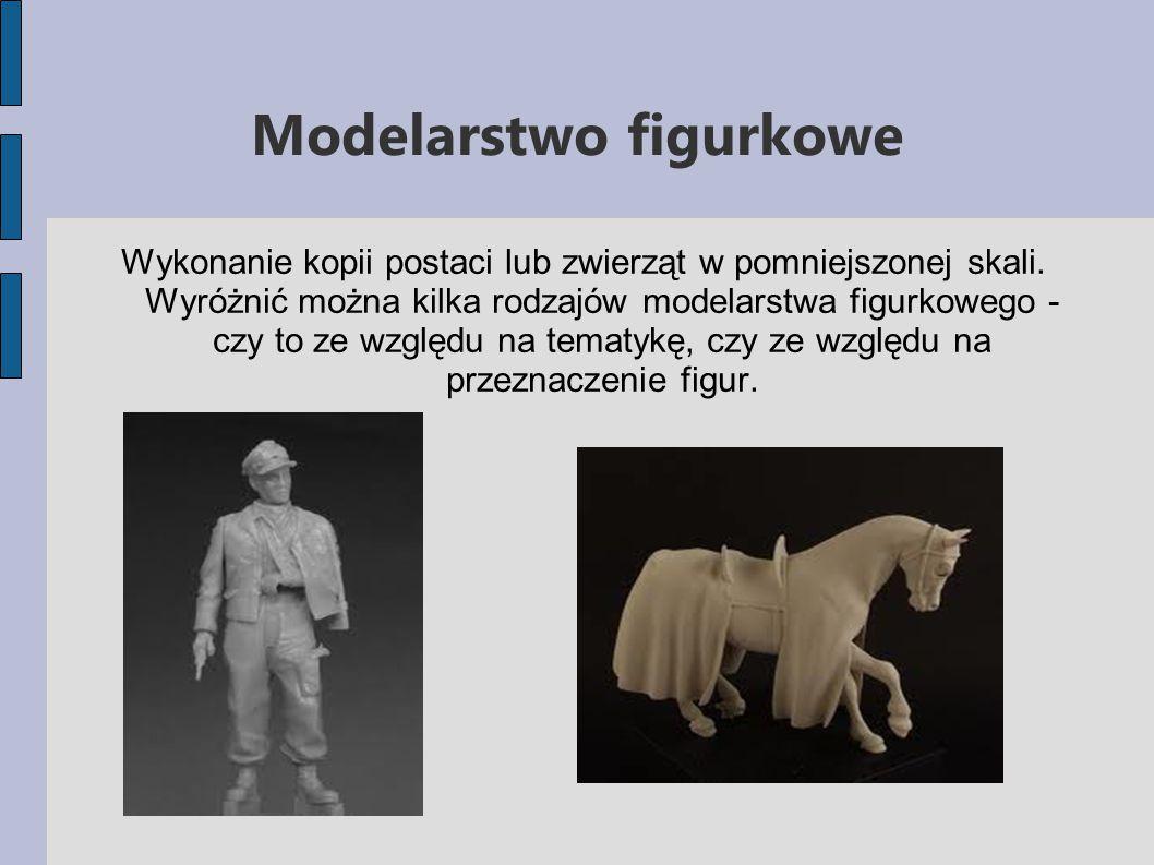 Modelarstwo figurkowe Wykonanie kopii postaci lub zwierząt w pomniejszonej skali.