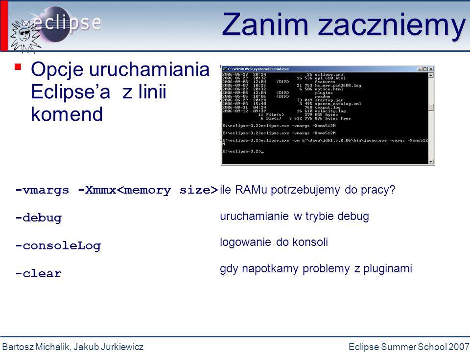 Bartosz Michalik, Jakub JurkiewiczEclipse Summer School 2007 Po uruchomieniu