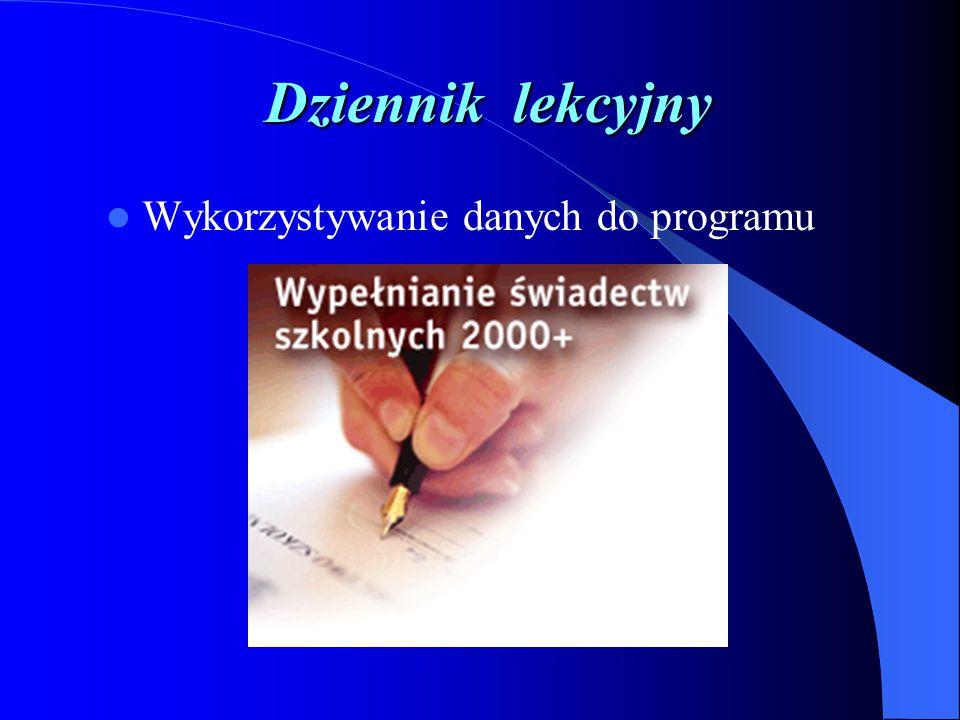 Dziennik lekcyjny Bieżąca, automatyczna korespondencja Zapowiedzi sprawdzianów, zadań Informowanie o zachowaniu ucznia Wpisywanie spostrzeżeń o grupie