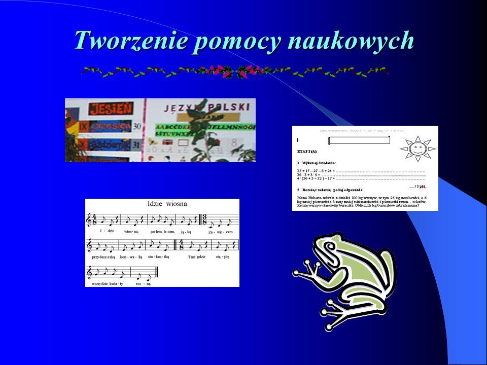 S posoby wykorzystywania komputera S posoby wykorzystywania komputera Tworzenie pomocy naukowych Wykorzystywanie baz danych Prowadzenie dokumentacji I
