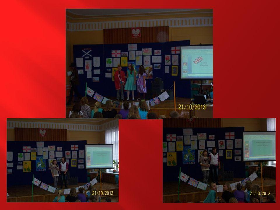 Dużą dawkę wiedzy o Wielkiej Brytanii przekazali uczniowie klasy VIA, przygotowując krótkie lekcje o Anglii, Walii, Szkocji i Irlandii Północnej.