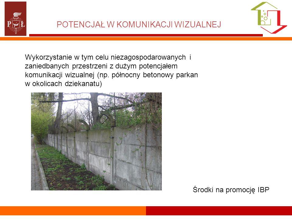 POTENCJAŁ W KOMUNIKACJI WIZUALNEJ Wykorzystanie w tym celu niezagospodarowanych i zaniedbanych przestrzeni z dużym potencjałem komunikacji wizualnej (