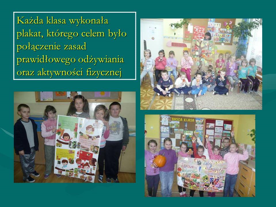 Szkoła promująca zdrowie Przeprowadzono lekcje oraz wykonano gazetki tematyczne, których celem było wzmocnienie treści dydaktycznych