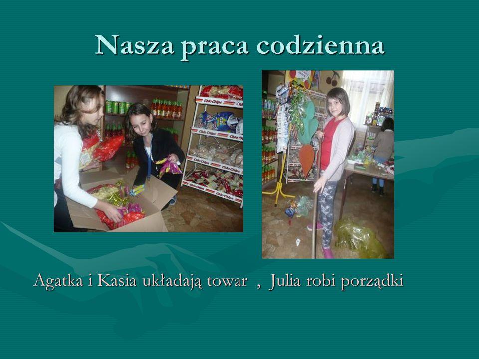 Nasze obowiązki Oliwia ustala Dziewczynki wybierają i zapisuje ceny korzystne oferty