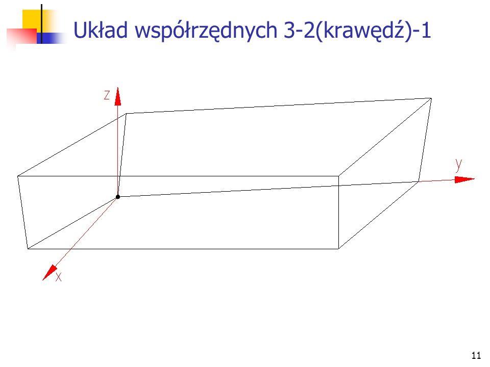 11 Układ współrzędnych 3-2(krawędź)-1