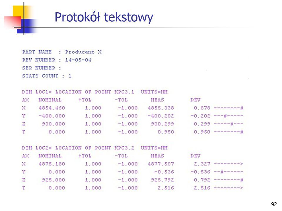 92 Protokół tekstowy