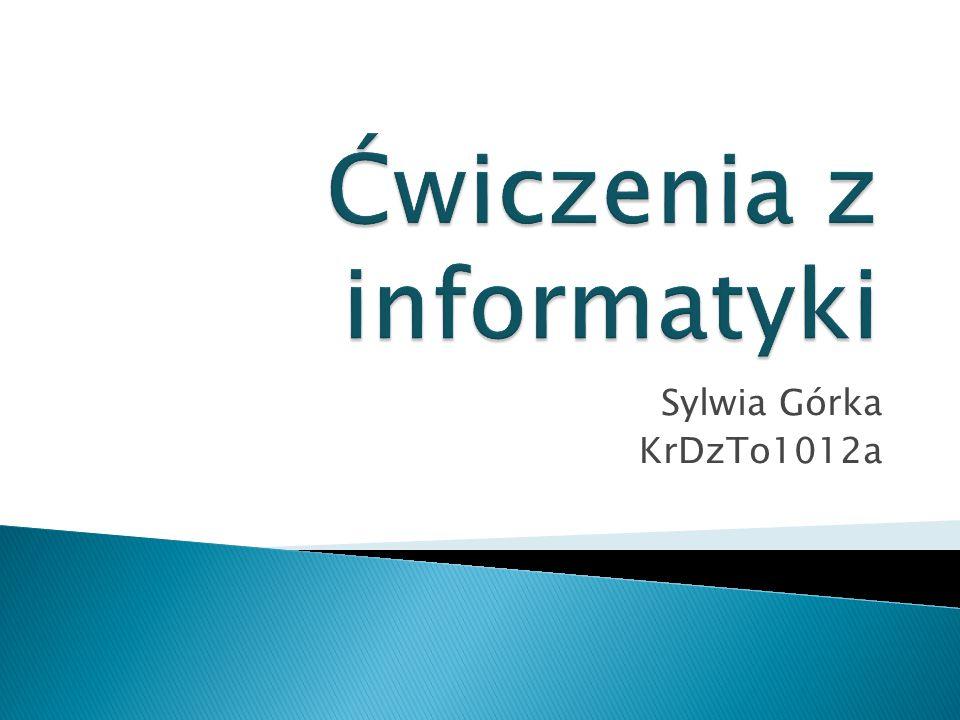 Sylwia Górka KrDzTo1012a