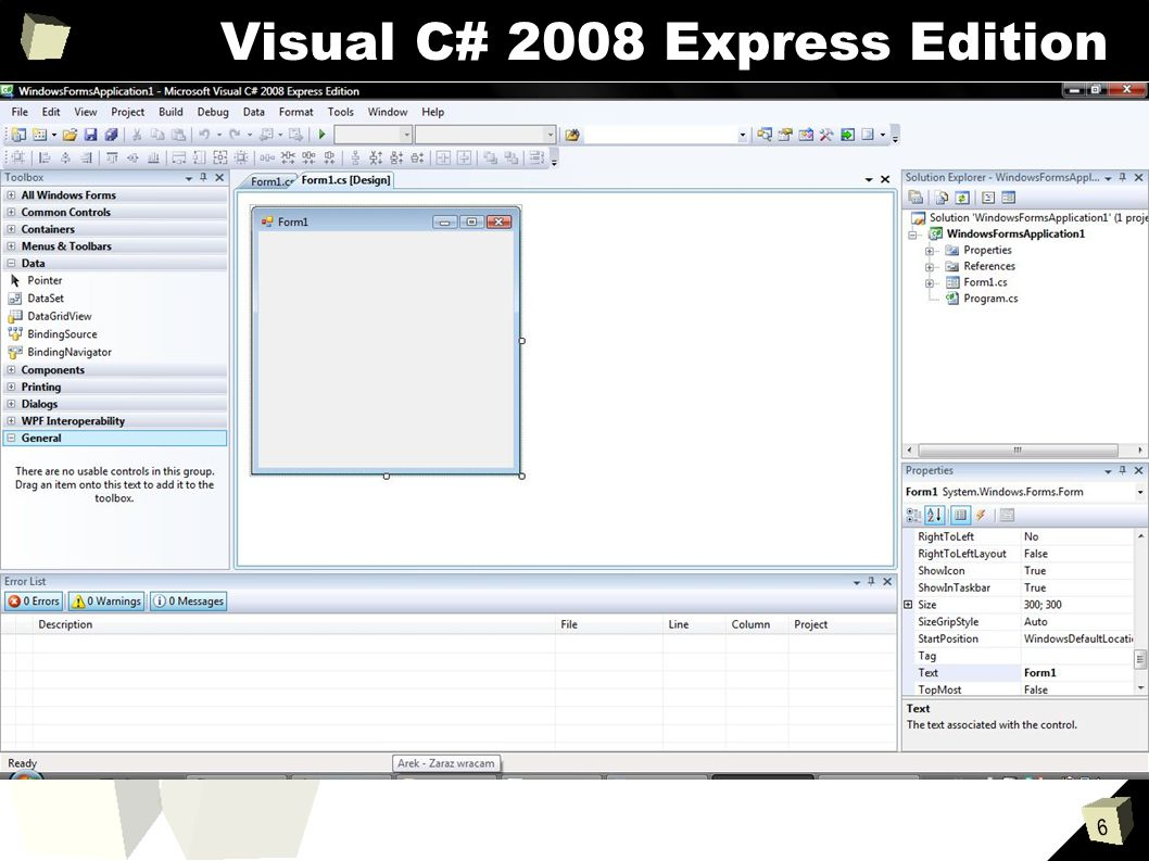 6 Visual C# 2008 Express Edition