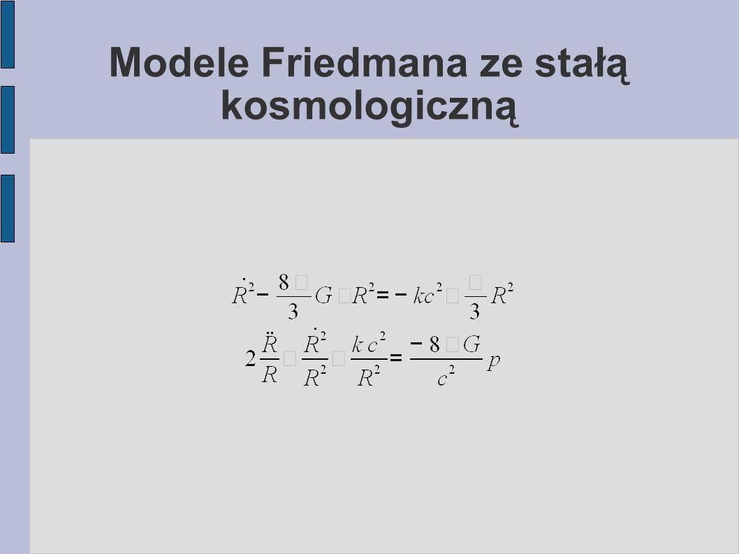 Modele Friedmana ze stałą kosmologiczną