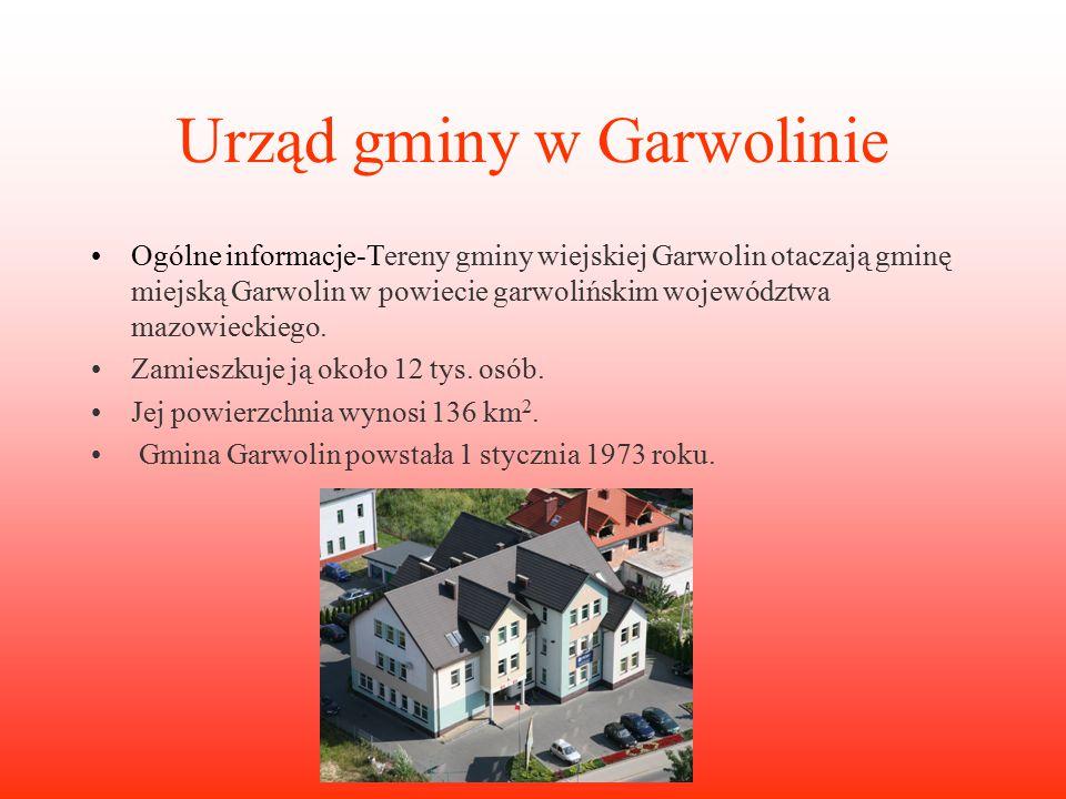 Urząd gminy w Garwolinie Ogólne informacje-Tereny gminy wiejskiej Garwolin otaczają gminę miejską Garwolin w powiecie garwolińskim województwa mazowieckiego.