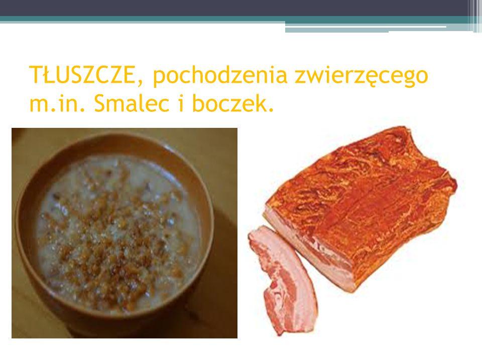 TŁUSZCZE, pochodzenia zwierzęcego m.in. Masło i śmietana.