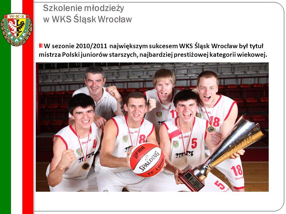 Szkolenie młodzieży w WKS Śląsk Wrocław W sezonie 2010/2011 największym sukcesem WKS Śląsk Wrocław był tytuł mistrza Polski juniorów starszych, najbar