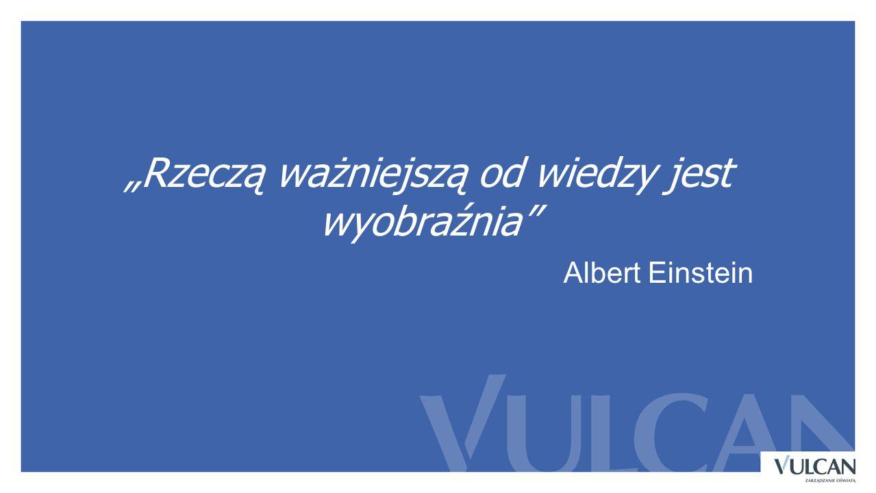 """""""Rzeczą ważniejszą od wiedzy jest wyobraźnia"""" Albert Einstein"""