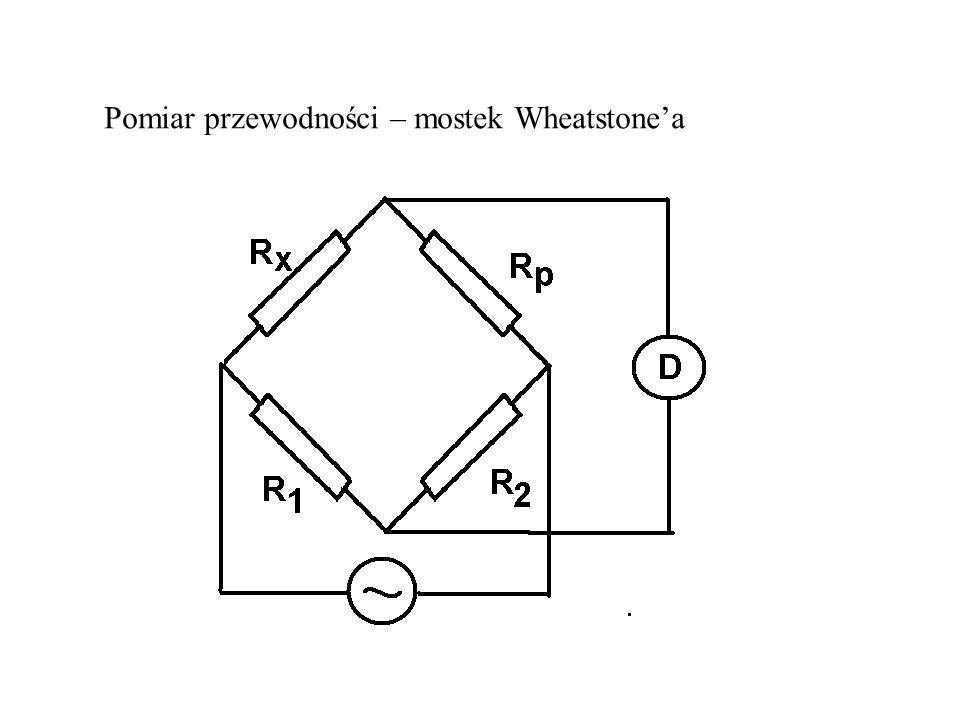 Pomiar przewodności – mostek Wheatstone'a