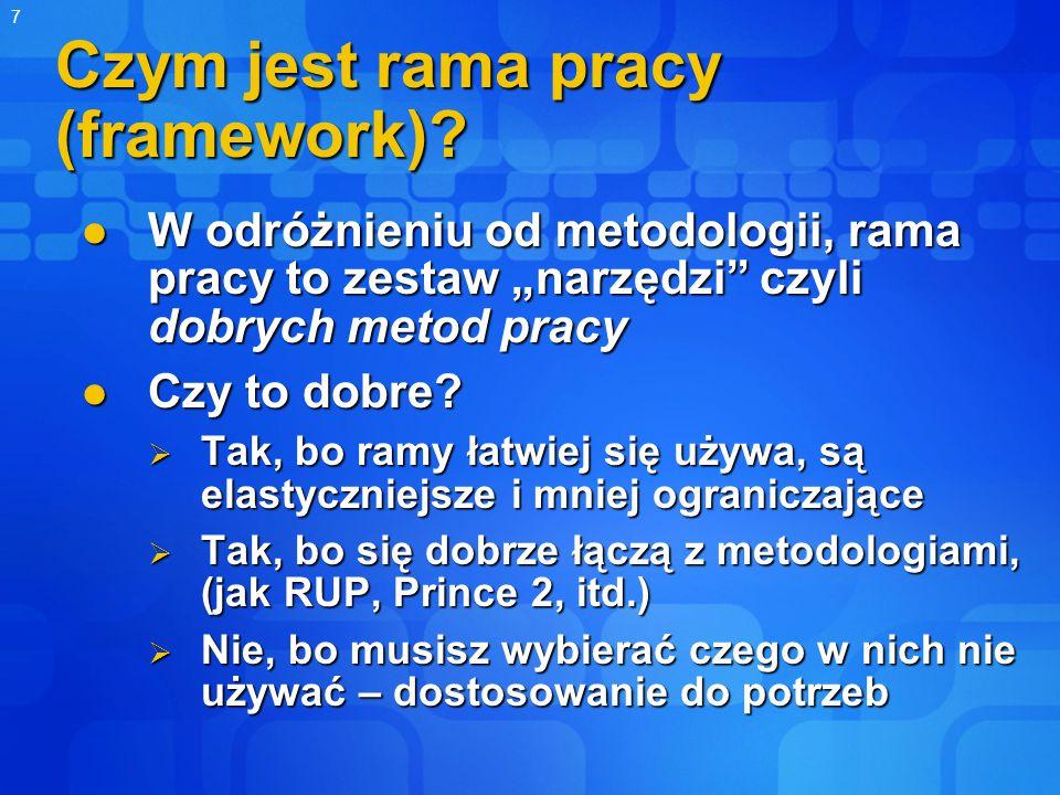 7 Czym jest rama pracy (framework).