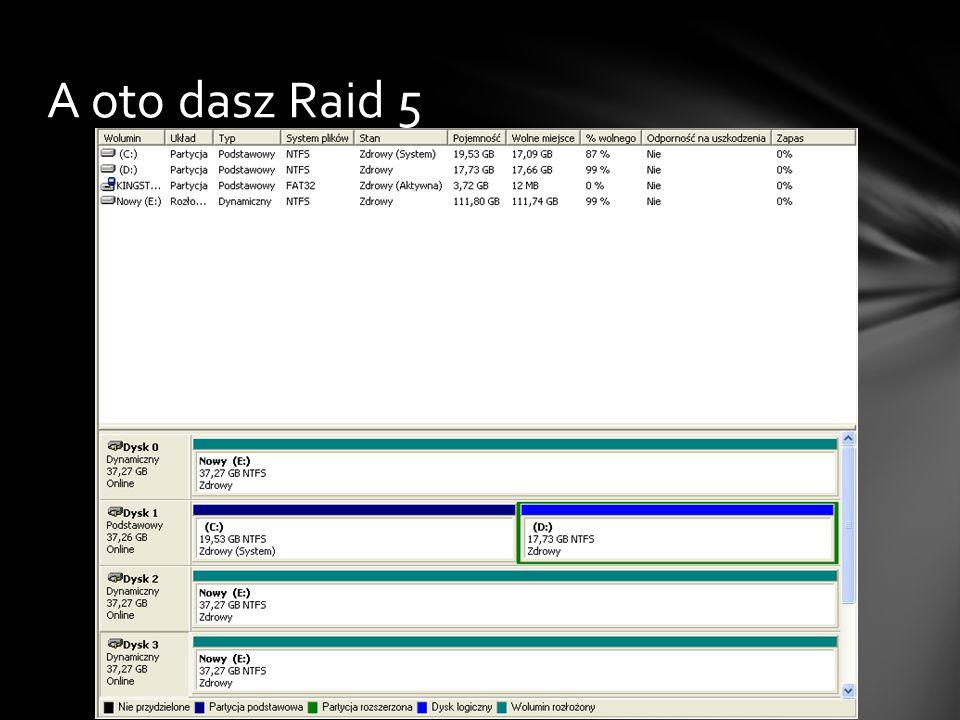 A oto dasz Raid 5