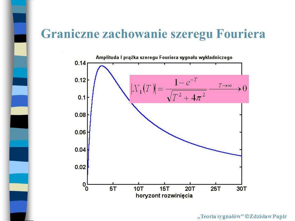 """Odwrotne przekształcenie Fouriera """"Teoria sygnałów  Zdzisław Papir Odwrotne przekształcenie Fouriera"""