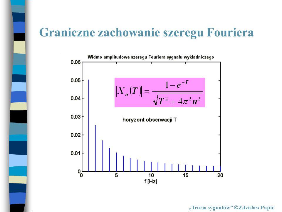 """Para przekształceń Fouriera """"Teoria sygnałów  Zdzisław Papir PRZEKSZTAŁCENIE ODWROTNEPROSTE PARA PRZEKSZTAŁCEŃ"""