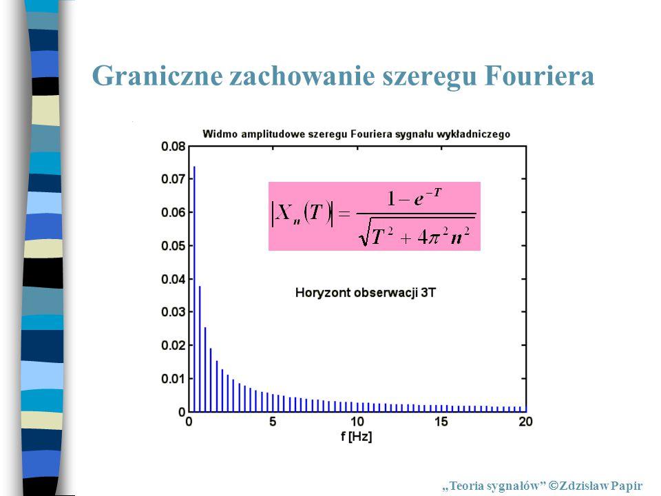 """Para przekształceń Fouriera """"Teoria sygnałów  Zdzisław Papir PROSTE PRZEKSZTAŁCENIE FOURIERA:"""