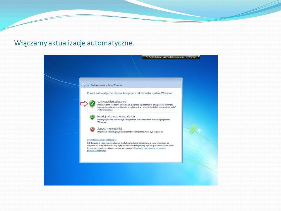 Włączamy aktualizacje automatyczne.