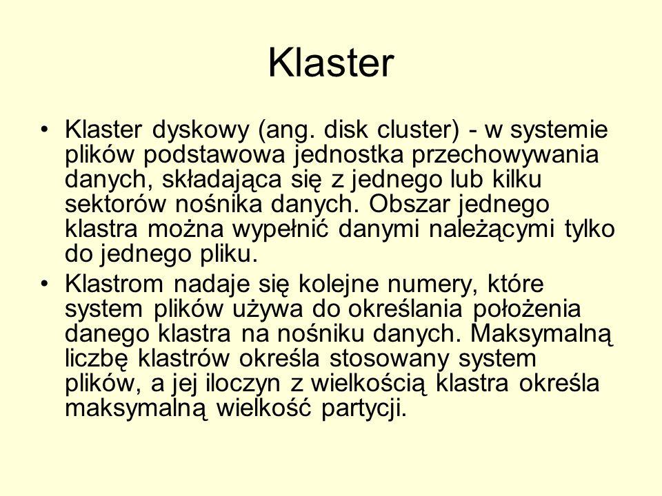 Klaster Klaster dyskowy (ang.