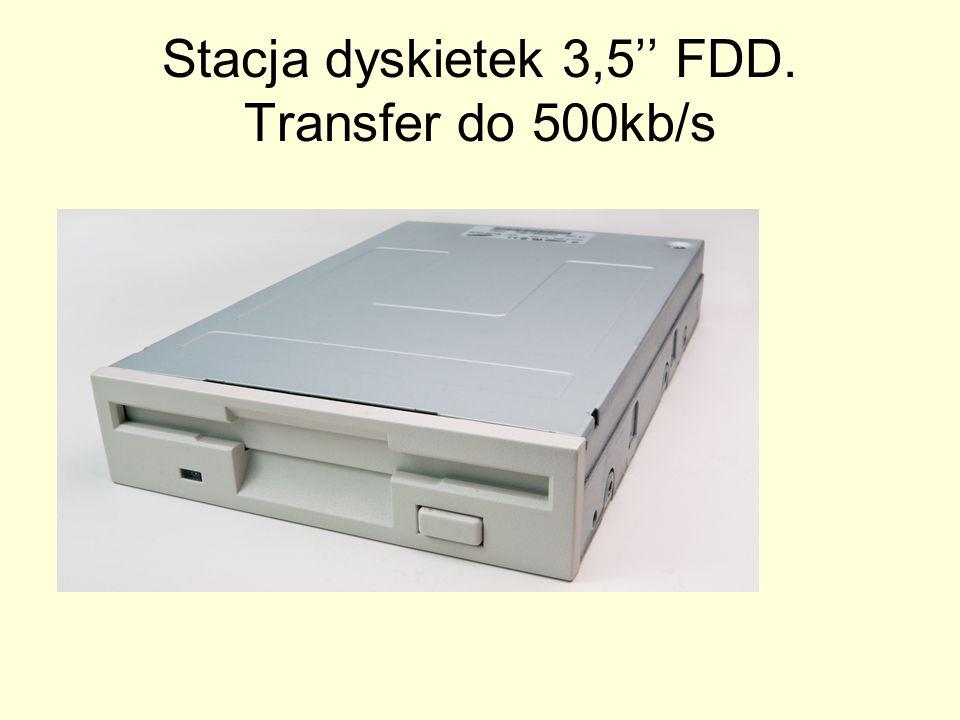 Stacja dyskietek 3,5'' FDD. Transfer do 500kb/s