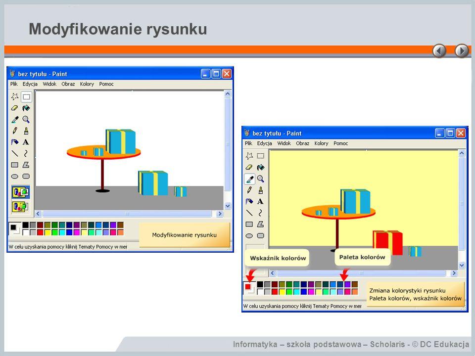 Informatyka – szkoła podstawowa – Scholaris - © DC Edukacja Modyfikowanie rysunku