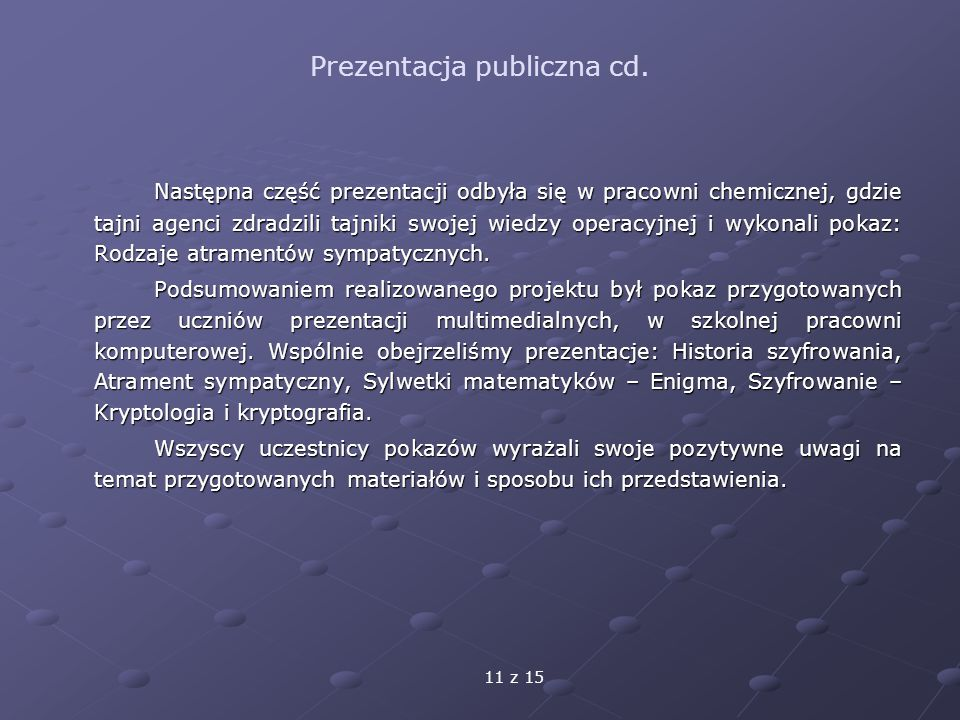 Prezentacja publiczna cd.