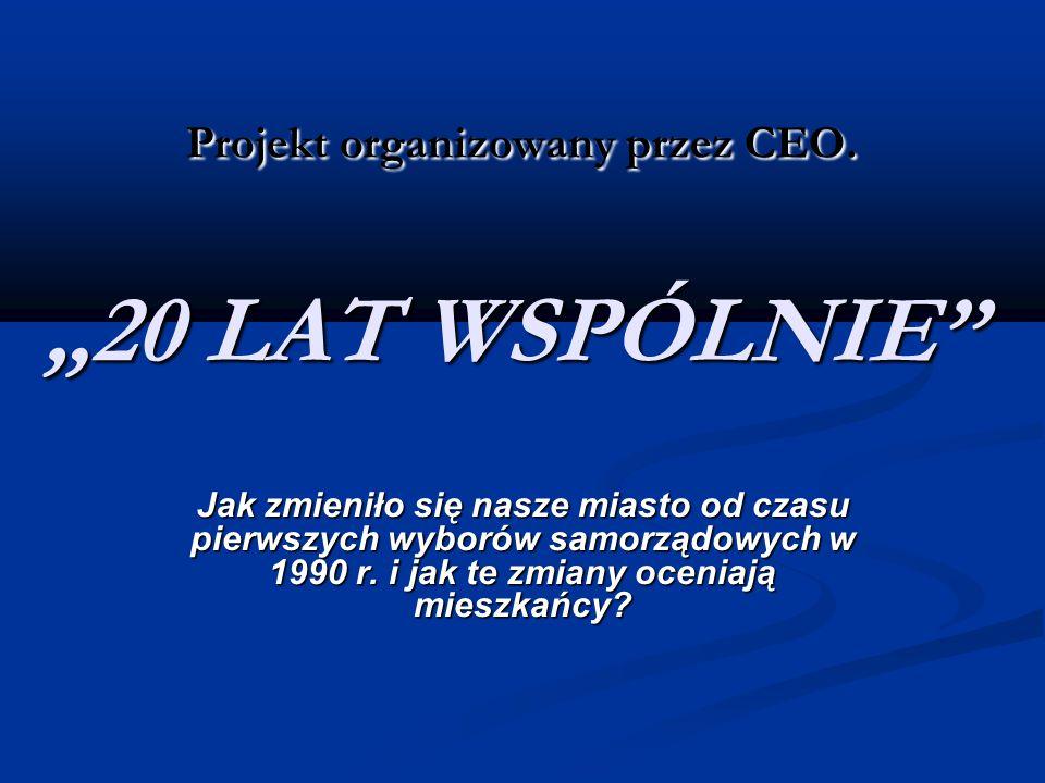 """Projekt organizowany przez CEO. """"20 LAT WSPÓLNIE Projekt organizowany przez CEO."""