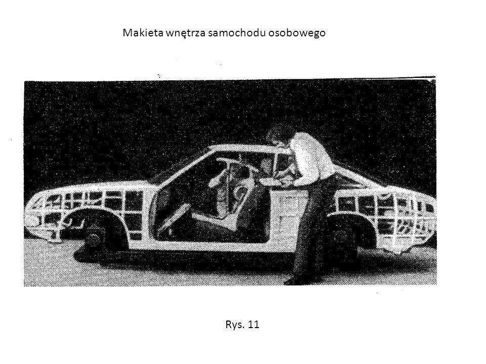 Makieta wnętrza samochodu osobowego Rys. 11